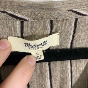 Madewell Tops - Madewell anthem double stripe top sz. L